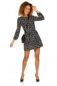 Patrizia Pepe |  Fringe skirt with dots print Pelazzi | black  | Picture 3