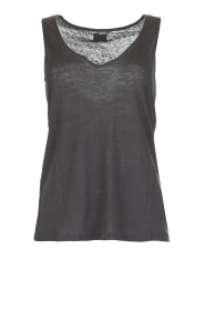 Blaumax |  Linen tank top Madrid | grey  | Picture 1