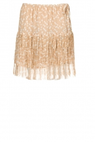 Patrizia Pepe |  Fringe skirt with dots print Pelazzi | beige   | Picture 1