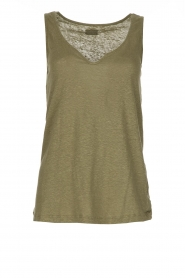 Blaumax |  Linen cami Madrid | green  | Picture 1