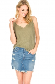 Blaumax |  Linen cami Madrid | green  | Picture 2