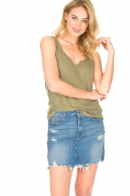 Blaumax |  Linen cami Madrid | green  | Picture 3
