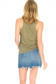 Blaumax |  Linen cami Madrid | green  | Picture 5