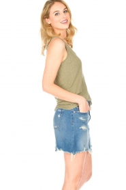 Blaumax |  Linen cami Madrid | green  | Picture 4