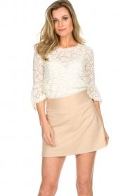 Patrizia Pepe |  Skirt Rachelle | beige  | Picture 2
