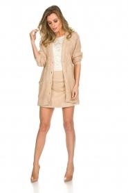 Patrizia Pepe |  Skirt Rachelle | beige  | Picture 3