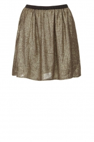 Louizon |  Skirt with golden fabric Castana | gold  | Picture 1