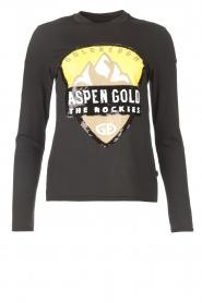 Goldbergh |  Ski sweater with sequins Aspen | black  | Picture 1