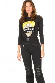 Goldbergh |  Ski sweater with sequins Aspen | black  | Picture 2