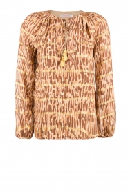 Silk top Afra | bruin