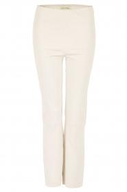 By Malene Birger | Lamsleren stretch broek Florentina | ivory  | Afbeelding 1
