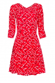 Patrizia Pepe |  Dress with dots print Vivi | red  | Picture 1