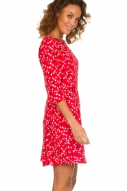 Patrizia Pepe |  Dress with dots print Vivi | red  | Picture 5