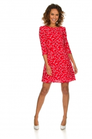 Patrizia Pepe |  Dress with dots print Vivi | red  | Picture 3