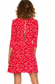 Patrizia Pepe |  Dress with dots print Vivi | red  | Picture 6