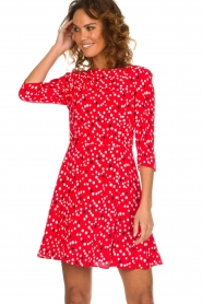 Patrizia Pepe |  Dress with dots print Vivi | red  | Picture 4