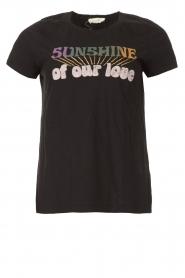 Louizon |  Imprinted T-shirt Sunsine | black   | Picture 1