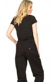 Louizon |  Imprinted T-shirt Sunsine | black   | Picture 6