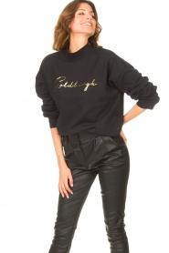 Goldbergh    Cotton sweater Stone   black     Picture 4