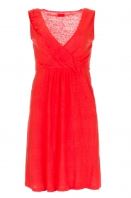 Blaumax |  Linen dress Jennifer | red  | Picture 1