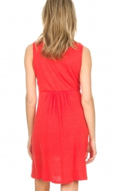 Blaumax |  Linen dress Jennifer | red  | Picture 6
