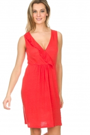 Blaumax |  Linen dress Jennifer | red  | Picture 2