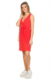 Blaumax |  Linen dress Jennifer | red  | Picture 7
