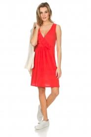 Blaumax |  Linen dress Jennifer | red  | Picture 3