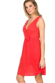 Blaumax |  Linen dress Jennifer | red  | Picture 5