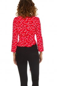 Patrizia Pepe |  Top with dots print Luna | red  | Picture 5