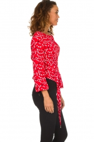 Patrizia Pepe |  Top with dots print Luna | red  | Picture 4