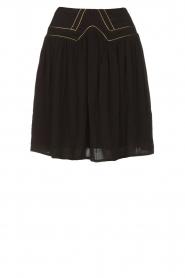 Louizon |  Skirt with gold seams Ella | black  | Picture 1