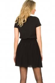Louizon |  Skirt with gold seams Ella | black  | Picture 6