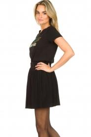 Louizon |  Skirt with gold seams Ella | black  | Picture 5