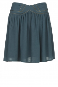 Louizon |  Skirt with gold seams Ella | blue  | Picture 1