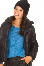 Goldbergh |  Knitted chunky beanie Valerie | black  | Picture 2