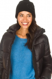 Goldbergh |  Knitted chunky beanie Valerie | black  | Picture 3