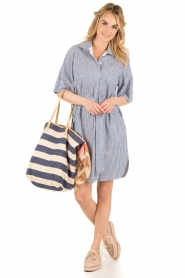 By Malene Birger |  Blouse dress Olali | blue  | Picture 3