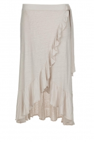 Blaumax |  Linen skirt Singapur | beige  | Picture 1