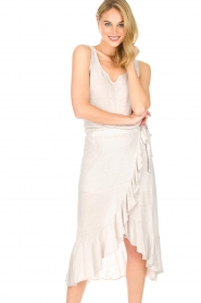 Blaumax |  Linen skirt Singapur | beige  | Picture 2