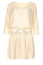 Louizon |  Dress with bronze seams Elliot | natural  | Picture 1