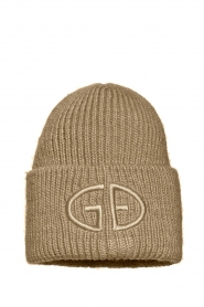 Goldbergh |  Knitted chunky beanie Valerie | beige  | Picture 1