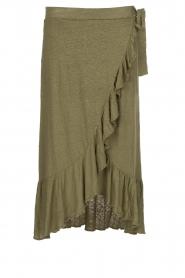 Blaumax |  Linen skirt Singapur | green  | Picture 1