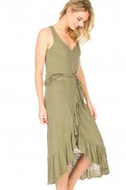 Blaumax |  Linen skirt Singapur | green  | Picture 5
