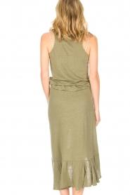 Blaumax |  Linen skirt Singapur | green  | Picture 6