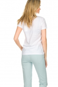 Patrizia Pepe |  Cotton T-shirt with print City LNDN | white  | Picture 5