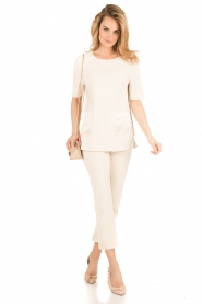 By Malene Birger | Top Hejdis | crème wit  | Afbeelding 3
