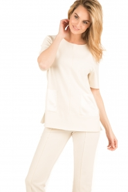 By Malene Birger | Top Hejdis | crème wit  | Afbeelding 2