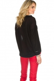 Patrizia Pepe |  Sweater with metallic details Xelly | black  | Picture 5