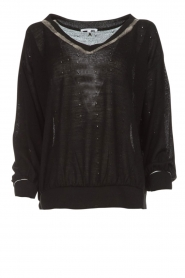 Patrizia Pepe |  Sweater with metallic details Xelly | black  | Picture 1